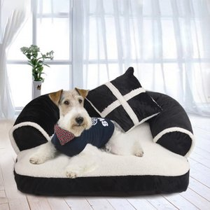 Washable Pet Dog cat Bed Soft winter Velvet Kennel Cat Litter dog cage Cat Mat Sofa cushion cover Pet house for large puppy Home