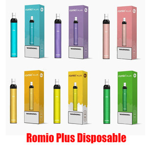 Romio Plus-Einweg-Geräte-Pod Kit 500mAh Batterie 500 Puff 3 ml Prefilled Patronen Vape leeren Pen VS Xtra Plus-Bar Flow-Bang XXL