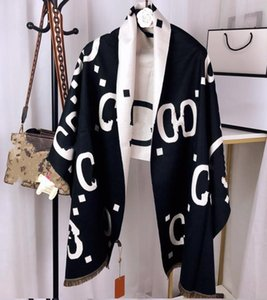 Écharpe classique en cachemire Designer pour les hommes et les femmes de luxe d'hiver en cachemire conception modèle grande lettre cachemire Pashminas foulards Châles A944