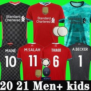 20 21 Liverpool camisa de futebol 2020 2021 LVP camisa de futebol M. SALAH VIRGIL MANE FIRMINO KEITA MILNER SHAQIRI ORIGI uniformes campeões goleiro homens + kit de crianças