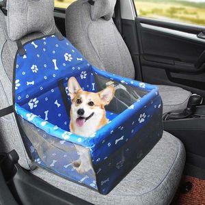 Asiento 2 en 1 coche del frente del coche del animal doméstico de la cubierta a prueba de agua del perrito de la cesta Anti-Silp perro mascota gato portador recorrido al aire libre