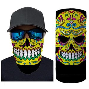 Sunscreen Riding headband demon Skull mouth Motorcycle Magic Headscarf Wind-proof Dust-proof Custom graphics ghost