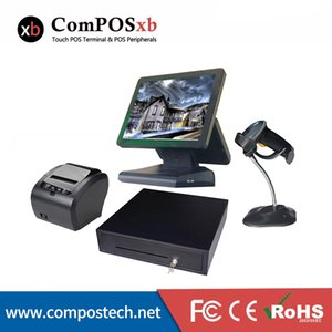 Monitors Professional Cash Register 15 Inch Capacitive Touch Screen System With Drawer 80mm Printer  Scanner For Supermarket