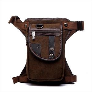new fashion Waterproof canvas waist bag Casual Travel men Bag motorcycle leg bag Fanny Waist Pack 5 colour