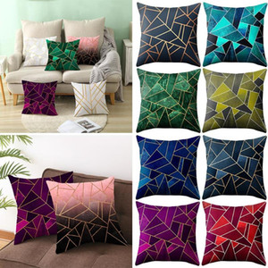 1PCS 45x45cm Cushion Cover Geometric Printed Throw Pillow Cover Pillowcase Home Decoration Sofa Bed Accessories Colorful Pillow Case