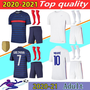 2020 France Maillot de Foot francia maison maillot de football loin kits adultes 20 21 MBAPPE Griezmann KANTE football Pogba kit chemise uniforme S-XXL