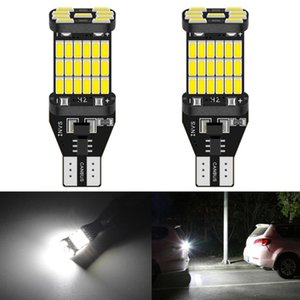 2x Canbus T15 W16W LED Ampul T16 921 912 906 Led Erroe Ücretsiz Ampul Araç Ters Işık Otomatik Yedekleme Ampüller 4014 SMD Beyaz Turuncu