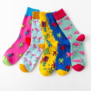 20200920 Cotton colorful cartoon long tube socks