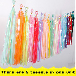 5pcs lot Rainbow Candy Color Tassels Decor For Birthday Wedding Party Valentine's Day Proposal Backdrop Decoration Deco mariage