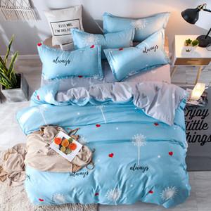 New Cotton Beding Set of Four Pillowcase Quilt Cover Customizable 1.5m 1.8m 2.0m 2.2m Flannel Mattresses