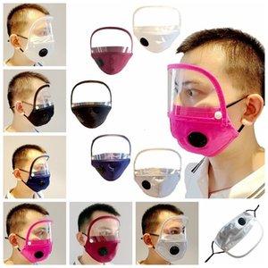 1 Valve in Mask with 2 Removable Visible Eye Dustproof Washable Protective Face Shield Detachable Designer Masks Rra3357 Vm8w#