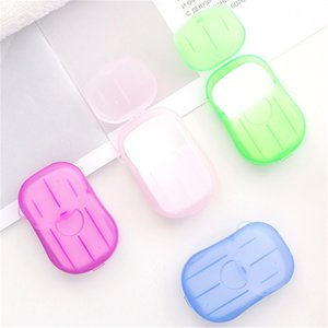 20PCS box Disposable Mini Travel Soap Paper Washing Hand Bath Cleaning Portable Boxed Foaming Soap Paper Scented Sheets
