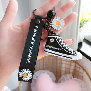 Boneca Urso leão dos desenhos animados Black Tiger Keychain pequeno bonito Margaridas sapatas de lona Chaveiros Mulheres Bag Pingente Chaveiro S137