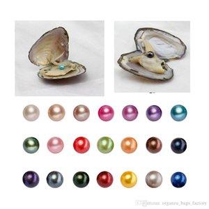 Cgjxs de regalo de lujo de agua dulce perla redonda de perlas cultivadas de Oyster 25 colores 6 -7mm Akoya Partido vacío favor Embalaje