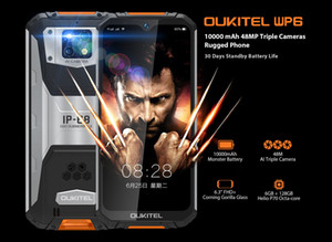 OUKITEL WP6 10000mAh 6.3'' FHD+ IP68 Waterproof Mobile Phone 6GB 128GB Octa Core 16MP Triple Cameras Rugged Smartphone