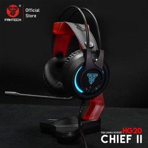 FANTECH 3.5MM Gaming Headset HG20 RGB casque avec micro pour PC et AC3001 Porte-casque Pour PUNG FPS Gamer