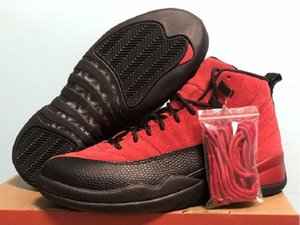 High Quality 12s Varsity Red Black Athletic Designer Shoes XII Alternate Reverse Flu Game Fashion Chaussures Trainers Come With Box