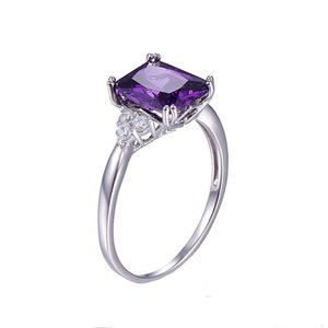 new hot Women's 5.25Ct Cut Created CZ Brand Jewelry Ladies Sterling Solitaire Square Rings Engagement Ring