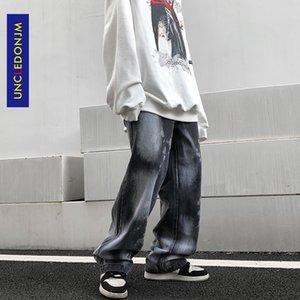 UNCLEDONJM Tie-Dye Jeans Herrenmode Hip Hop Jeans für Männer Männer Kleidung Denim T2-B117