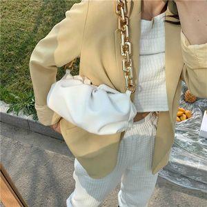2020 nouvelle marque sac femme mode design de luxe « Shoulder Bag Underarm Femme 2020 Populaire Nouveau été Fold chaîne large d'or blanc Nuages