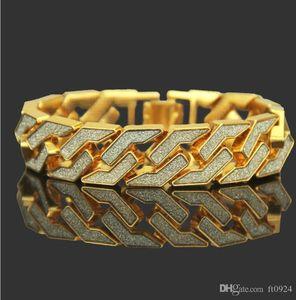 European and American hip-hop pop trend golden onion powder Bracelet star sparkling pink men's geometric Bracelet popular jewelry