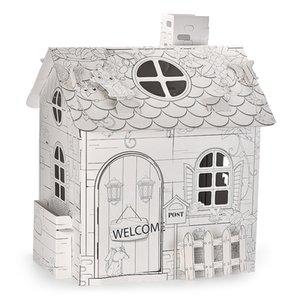 시골 별장 색깔의 펜 창조적 인 DIY 아기 계발 퍼즐 장난감 고품질의 어린이 장난감 무승부 선물