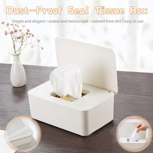 Kitchen Paper Storage Box Bathroom Paper Towel Holder Tissue Box Cover Plastic Beige Napkin Holder Car Tissue Holder