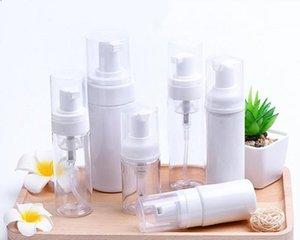 30ml 60ml di plastica dell'erogatore del sapone bottiglia trasparente Pompa schiuma bianca bottiglia di sapone Mousse dell'erogatore liquido schiumogeno bottiglia HHD236