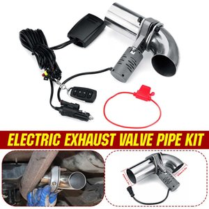"""63mm 2.5"""" Electric Remote Control Exhaust Valve Pipe Downpipe Cut Out Wireless Variable Rear Tail Muffler Inlet"""