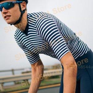 العلامة التجارية الأعلى خروف أسود تصميم جديد كم قصير ركوب الدراجات جيرسي الأزرق والأبيض المشارب الطريق دراجة سباق الملابس MAGLIA دا Ciclismo