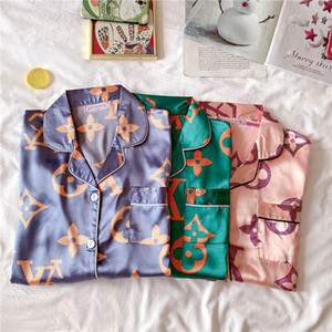 9 Styles Women Luxury Sleepwear INS Fashion Printed Lady Pajamas Sets Indoor Causal Two Piece Female Nightclothes