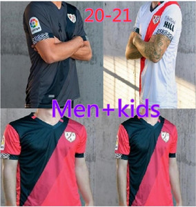 Hommes + enfants Rayo Vallecano maillot de foot 20-21 maison, loin du Tiers Kits Jersey Football