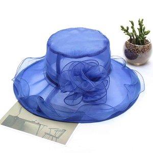 New light gauze visor hat Fashion casual flower hat beach anti-UV sun
