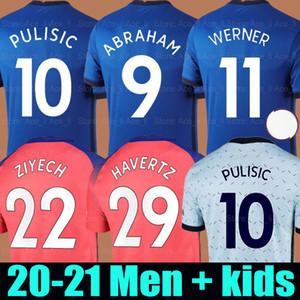20 21 Chelsea futbol forması PULISIC HAVERTZ WERNER ZIYECH soccer jersey THIAGO SILVA LAMPARD ABRAHAM KANTE 2020 2021 Erkekler + Çocuk kiti seti üniforma shirts