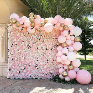 "Artificial Flowers Wall Decoration 24""x16"" Decorative Silk Flower Panels Flower Wall for Home Party Wedding Backgdrop Decor"