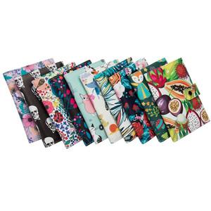 2020 Women's New Brown Rat Color Passport Clip Buckle Passport Rose Flower Ticket Holder Multi-card Floral Cartoon Animal Bag