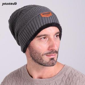hommes YAUAMDB chapeaux homme hiver chapeau chapeaux mâle bonnet en tricot pull skullies laine Chapeau Bonnet snap Slouch Cap Y17