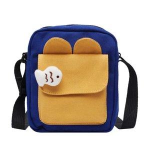 Mens Designer Bags ins Super fire square cute doll girls versatile Canvas diagonal small bagYXY2