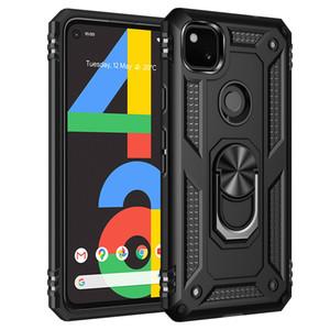 À prova de choque Dual Layer Magnet Militar Anel Kickstand capa para Google Pixel 4A 4 XL 3A Motorola Moto G8 Power Lite Uma Fushion G8Play