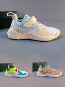 Kids J Delta SP Sail Vachetta Tan Proto React Models Volt Basketball Shoes Deltas Black White Varsity Red Multi-Colored Childrens Sneakers