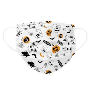 2020 Halloween cartoon face mask three-layer protective kids disposable masks dust-proof breathable Student fashion Designer mask
