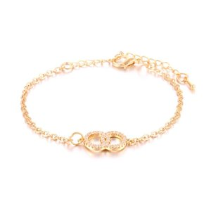 European and American Jewelry Foreign Trade Copper Jewelry Zircon 8-character Bracelet bracelets bangles