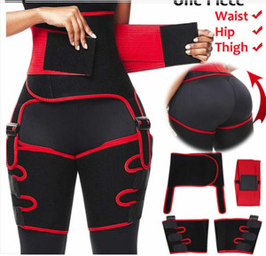 3 en 1 Femmes Hot Sweat Slim Cuisse Trimmer jambe Shapers taille Push Up Entraîneur Pantalon en néoprène Fat Burn Heat Compress Ceinture amincissante