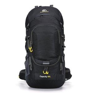 Сумки на открытом воздухе 60l дождь крышка водонепроницаемого светоотражающего похода треккинг спортивный рюкзак скалолазание мешок унисекс кемпинг путешествие рюкзак для мужчин