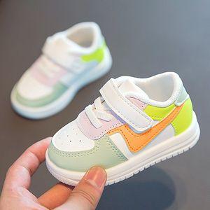 Bebek Toddler Spor Sneakers Çocuk Kızlar Için Deri Flats Çocuk Moda Rahat Bebek Yumuşak Ayakkabı 1-3Yar