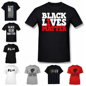 Lives noir Matière T-shirt en coton doux BLM Casual été à manches courtes I Can not Breathe Hip Hop unisexe Top T Sport Vêtements LJJP510