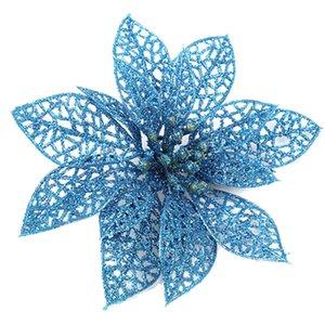 Parti Ornements 12 / 24Pcs Arbre de Noël Fleur de Noël Glitter Décoration Matériel LAD-vente 17AO