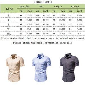 Erkekler Casual Slim Fit Sosyal Kısa Kollu Giyim İş Marka Erkek Gömlekler Düzenli-fit Klasik Tops 200925 için SZMXSS Ekose Gömlek