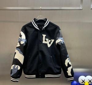 uomo designer vestiti 2020 Giacche di pelle Camouflage cucitura Uomo sportivo giacca invernale cappotti da uomo