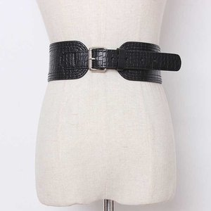 Pu Leather Multicolor Split Joint Asymmetrical Long Belt Personality Women New Fashion All-match Spring Autumn Dress Wasitband